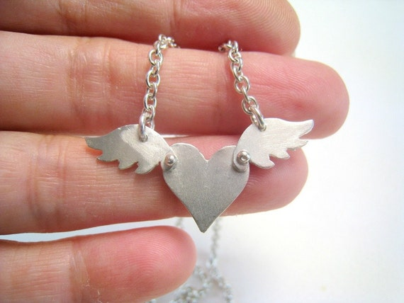 Like a Bird Heart Necklace FREE SHIPPING