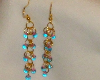 Number 624 - Shaggy Loops Chainmaille and Matagama Earrings