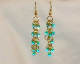 Number 625 - Shaggy Loops Chainmaille and Matagama Earrings