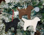 Needle-felted Labrador Retriever Ornament- made to order