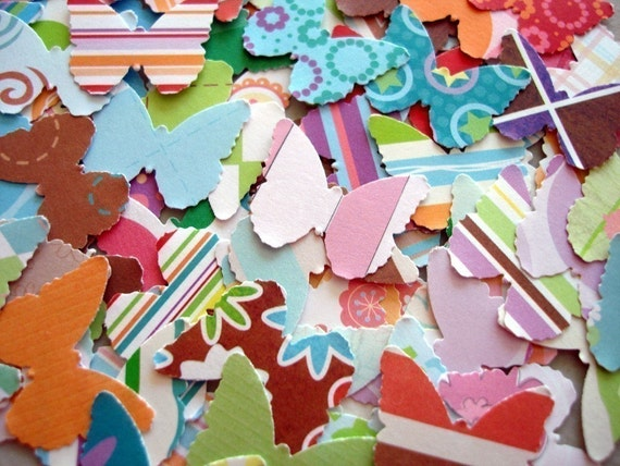 100 butterflies paper punch outs