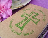 Hand-Stamped Psalm 27-1 Bible Journal