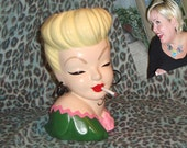 Custom Pinup Head Vase Hand Painted to Resemble You