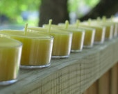 Tealight Candles - One Dozen Pure Wisconsin Beeswax Cappings