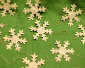 Snowflake Garland - dictionary pages