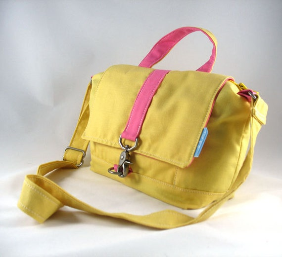 SALE - Yellow and Pink Messenger - Only One