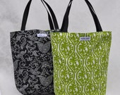 Shopper Bag - Green Jean Print