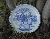 Plate Blue Decorative  Boch Belgium Delfts