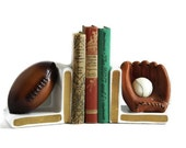 Vintage Lefton Bookends  Sport Themed