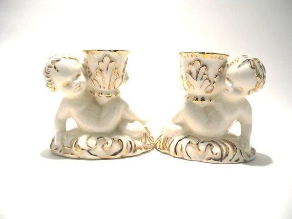 Cherub Candle Holders