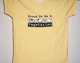 Proud to be a Vegetarian T-shirt Ladies S