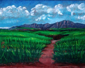 From Here - Original Oil Pastel