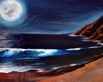 The Edge of Earth and Moon - original