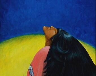 Dream Sister, Dream,Native American Series, Honoring Mother,8x10 LIMITED print, artist Schar Freeman