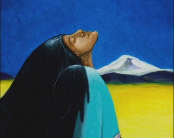 She Who Remembers-Native American Series-Honoring Mother,LIMITED print 25,artist Schar Freeman