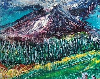 Birthing Danger-Mt. St. Helen's-Original Oil Painting