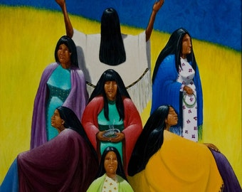 7 x 7Generations,Native American Series, Honoring Mother,8x10 LIMITED print, artist Schar Freeman
