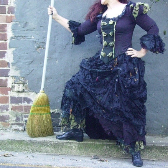 wonderful witch costume adult size 3 pieces made to