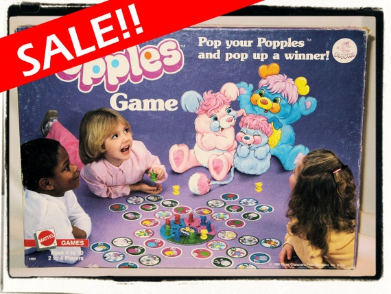 Sale - Vintage Pop Your Popples Board Game 1986 Complete Set