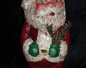 Paper Mache 7 1\/2in. Santa w\/Fat Cheeks