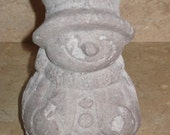 Unfinished paper mache Snowman w/Old Hat