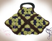 Granny Square Purse or Yarn Stash Bag Crochet Pattern