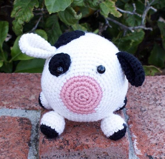 Amigurumi Crochet Pattern Cow : Roly Poly Cow Amigurumi Crochet Pattern by JacquiJCrochet ...