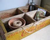 SALE - Vintage - Wooden Soda Crate - Coca Cola