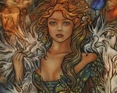 Allira Print 8.5 by 11 inches by artist Tienne Rei