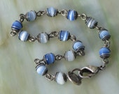 Kenneth Cole Baby Blue Beaded Bracelet Signed