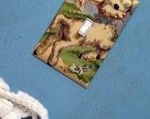 VIntage Baby Lamb Handmade Light Switch Cover Nursery