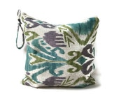 Ikat Utility Pouch - Water resistant bag, zippered