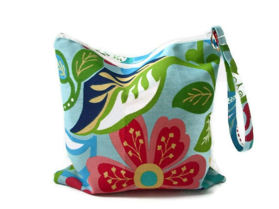 Dry Bag, Zippered Utility Pouch, Water resistant bag, Beach Bag, Travel case, Make up bag
