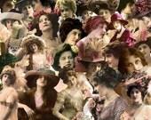 Digital Kit- No.8 -For Digital Art Just Ladies 2 -25 Different Ladies  PNG files-Instant Download