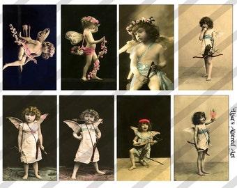 Digital Collage Sheet  Cupids (Sheet no. PS11) Instant Download