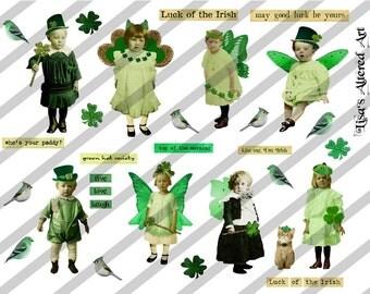 Digital Collage Sheet St. Patricks Day (Sheet no. H3) Instant Download