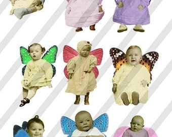 Digital Collage Sheet Fairies With Wings 20 (Sheet no. FW20) Instant Download