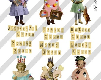 Digital Collage Sheet Queen Series 2 PNG file available (Sheet no. Q2) Instant Download
