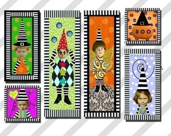 Digital Collage Sheet Zetti Style Slides (Sheet no.FS52) Instant download
