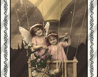 Digital Collage Sheet  Angels (Sheet no. PS18) Instant Download