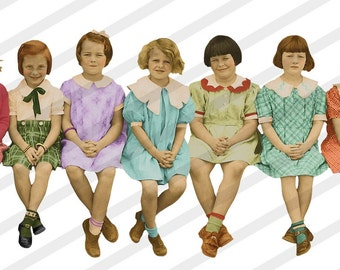 Digital Collage Sheet Girl Groups (Sheet No. S12)  PNG file available-Instant Download