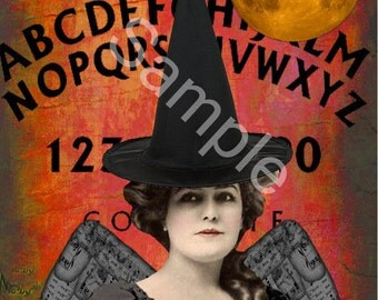 Digital Collage Sheet Vintage Halloween Images (Sheet No.O99) Instant Download