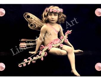 Digital Collage Sheet Valentine Cupid Images (Sheet no. O16) Instant Download