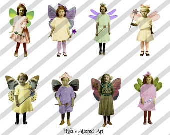 Digital Collage Sheet Fairies With Wings 10 (Sheet no. FW10) Instant Download