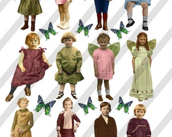 Digital Collage Sheet Children (Sheet no. F22) PNG file available-Instant Download