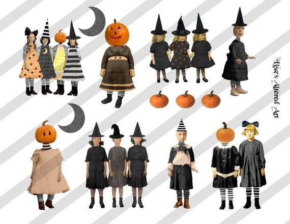 Digital Collage Sheet Zetti Halloween (Sheet no. H13) Instant Download