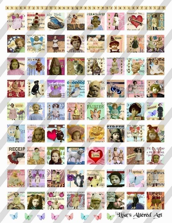 digital collage sheet scrabble tiles 85 x 85 sheet