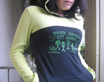 Punk Rock Day Camp Lime and Black Hoodie