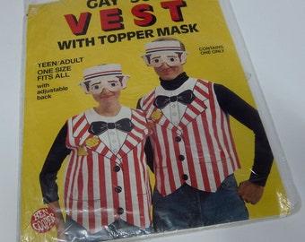 vintage gay '90s costume vest