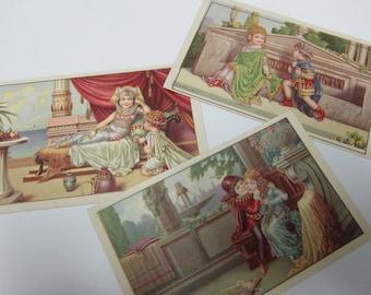 Bertiglia children historical postcards